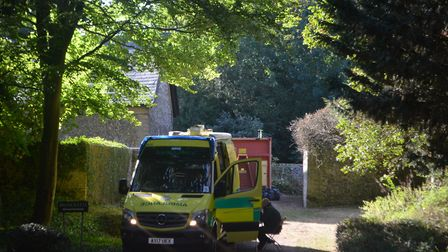 Ambulance waiting outside an address in Wendens Ambo. Picture: ARCHANT