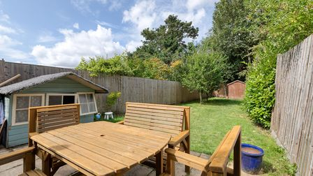 The rear garden measures 71ft x 18ft and benefits from a westerly aspect. Picture: Putterills