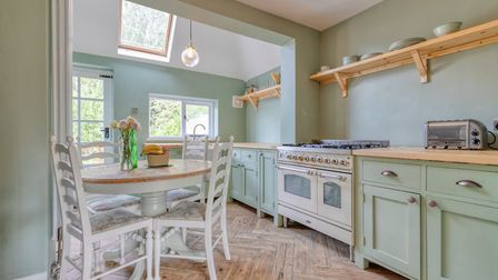 The cottage style kitchen/dining room is one of the property's most outstanding spaces. Picture: Put