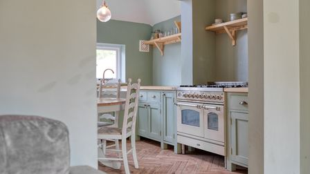 The kitchen was hand built and installed by a local craftsman. Picture: Putterills