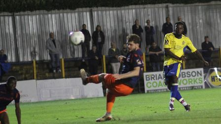 Rhys Murrell-Williamson pulled a late goal back for St Albans City in the match against Wealdstone a
