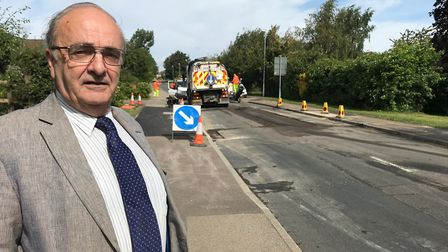 Councillor Mike Shellens in Sapley Road. Picture: CONTRIBUTED