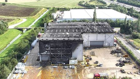 Cambridgeshire Fire and Rescue Service spent the afternoon tackling a fire in Sawtry