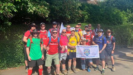 The Garden Fields Cricket Club on the 150km Ridgeway challenge in aid of The Hospice of St Francis a