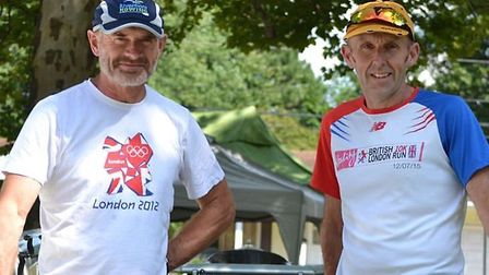 St Ives rowers Paul Ashmore and Gary Gilbey during their American adventure. Picture: SUBMITTED