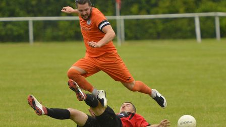 St Ives Town captain Robbie Parker scored during their defeat at the hands of Coalville Town last Sa