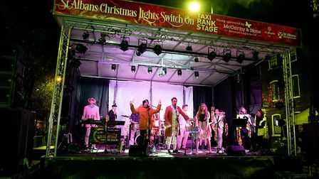 St Albans Christmas lights switch-on event in 2018.