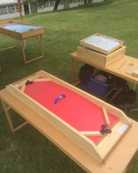 Peter Templeman has designed and hand crafted a variety of wooden games for community events around