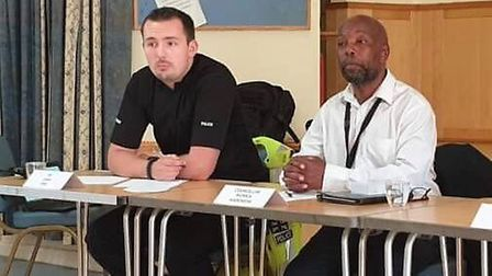 PC Josh Ives of Huntingdon Police came to talk to the community about local issues and take question