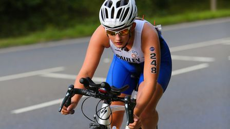 Beatrice Pauley during the English National Sprint Distance Championships. Picture: TONY BARR