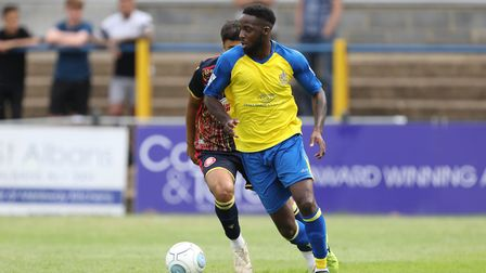 Rhys Murrell-Williamson scored on his first start for St Albans City this season. Picture: TGS PHOTO