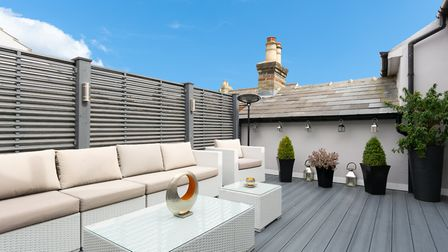 A door from the master bedroom leads to the private roof terrace. Picture: Collinson Hall