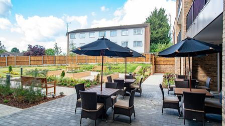 This new retirement accomodation opening close to St Albans centre includes an outdoor terrrace
