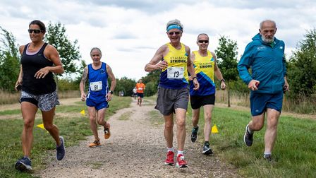 St Albans Striders' Jack Brooks on his way to completing his 500th marathon at the St Albans Stamped
