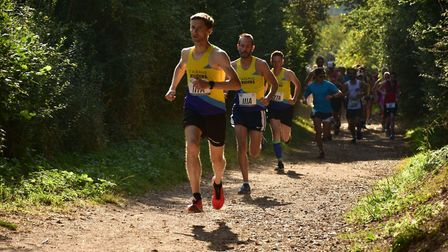 Steve Buckle of St Albans Striders leads the field at the St Albans Stampede. Picture: RICHARD UNDER