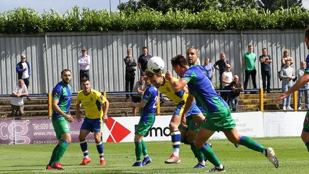 Joe Iaciofano in action for St Albans City against Dorking Wanderers. Picture: JIM STANDEN