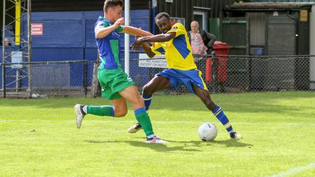 Bobson Bawling in action for St Albans City against Dorking Wanderers. Picture: JIM STANDEN
