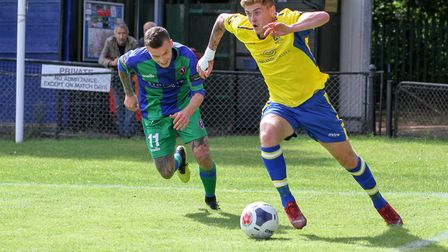 Taylor Miles in action for St Albans City against Dorking Wanderers. Picture: JIM STANDEN