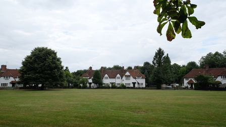 Aldenham's attractive village green, as seen from Church Lane. Picture: Danny Loo