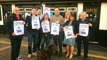 Landlords in the Save St Albans Pubs campaign outside The Boot in St Albans. It has secured the supp