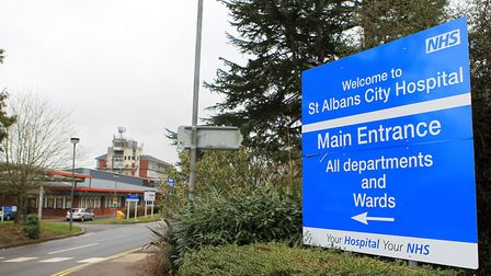 A shuttle bus will run to and from St Albans City Hospital while roadworks take place. Photo: Danny