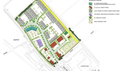 A site plan of the proposed retail park. Picture: CONTRIBUTED