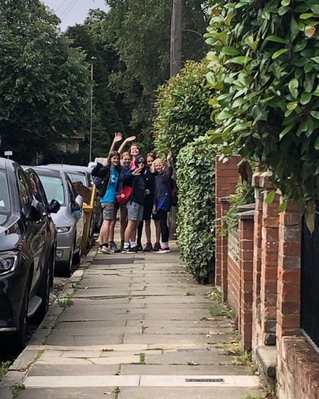 The girls walked 25 miles with an overnight stay to raise money for Cancer Research.