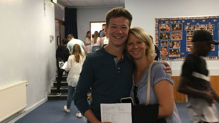 Wil Littleford with his mum. Picture: Freman College