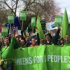 Anti-Brexit campaigners in the Green Party calling for a People's Vote. Photograph: Twitter.