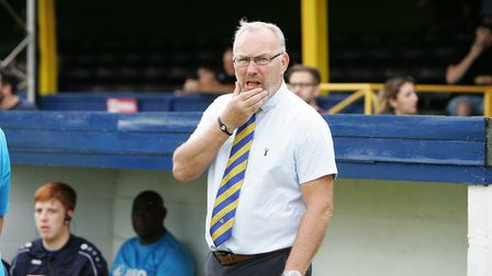 St Albans City manager Ian Allinson is expecting a tough battle against 'ambitious' Dorking Wanderer