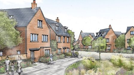 An artists impression of what Wintringham Park will look like