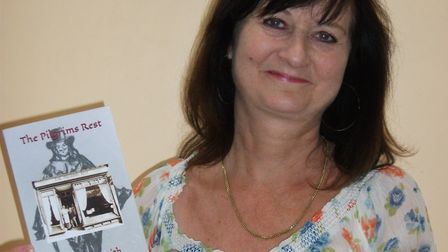 Chrissy Smith with her book, The Pilgims Rest. Picture: Chrissy Smith