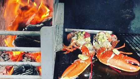 The Plough has opened after a fire using this braai oven. Picture: Submitted by Tim Hughes