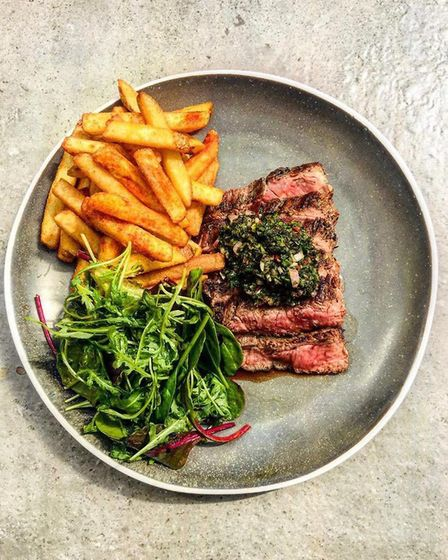 A meal made using The Plough's braai oven. Picture: Submitted by Tim Hughes