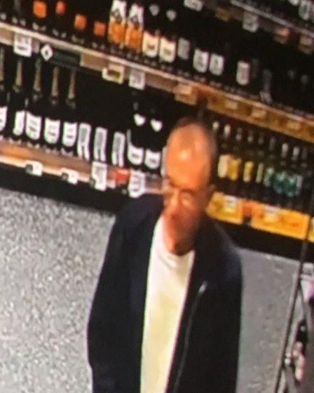 Police have released CCTV images of a man they want to speak to in connection with an indecent expos