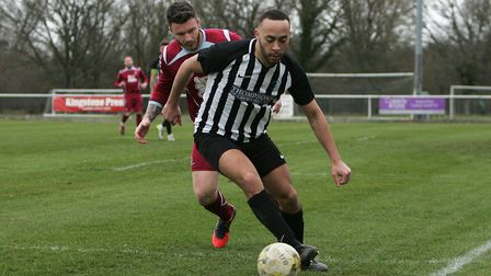 Chris Blunden set Colney Heath on their way against Dunstable Town. Picture: KARYN HADDON