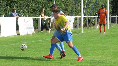 Jake Anthony in action for Harpenden Town against Leighton Town. Picture: RAY CANHAM