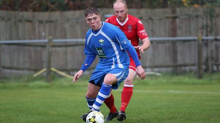 Laurence Vaughan was at the double for London Colney in their 4-1 win over Biggleswade United. Pictu