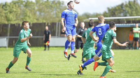 James Hall scored one of the goals as Godmanchester Rovers beat Gorleston. Picture: DUNCAN LAMONT
