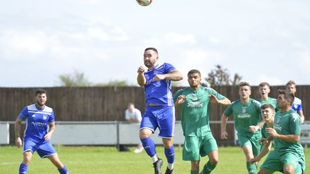 Jonny Hall scored the first goal in Godmanchester Rovers' win against Gorleston. Picture: DUNCAN LAM