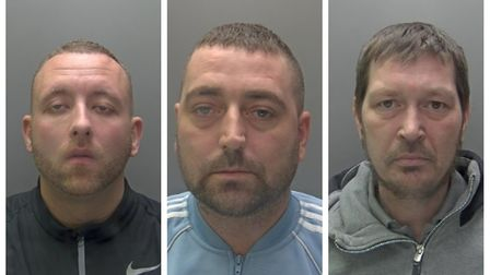 John Sebborn, Dean Sarney and Craig Raeside have been jailed following burglaries in Herts and furth