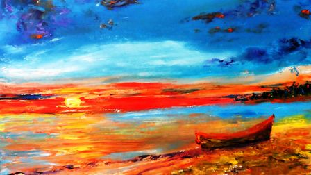 Spanish Sands by Mary Ann Day is one of the pictures on display at the Impressions of Colour exhibit