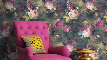 Ava Marika Moody Floral Wallpaper, from £85, Woodchip & Magnolia. Picture: Woodchip & Magnolia/PA