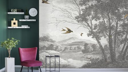 Zephyr Wallpaper Mural, £245, Woodchip & Magnolia. Picture: Woodchip & Magnolia/PA