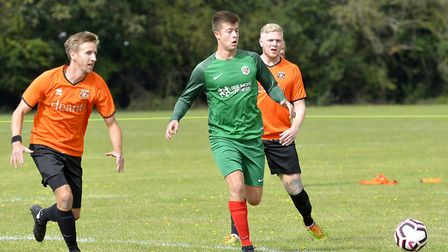 Connor Ray his a hat-trick in Huntingdon United's victory against Witchford 96 in the Cambridgeshire