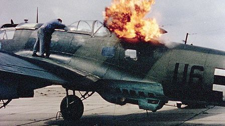A still from amateur footage taken by Prince William of Gloucester at the Battle of Britain (1969) s