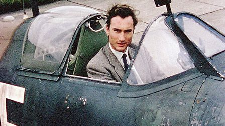 Still from rarely seen footage of the Prince William of Gloucester at the set of Battle of Britain a