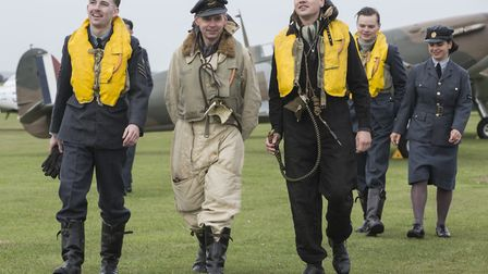 The Spirit of Britain living history group walk in the footsteps of Battle of Britain pilots along t