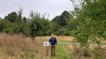 Richard Bull, park manager of Highfield Park is frustrated by the theft of the apples at the orchard