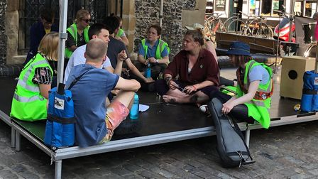 Extinction Rebellion could be protesting in St Albans this weekend, after youth activists (pictured)